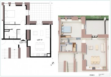 Appartement à Dole - T2 - 53m2
